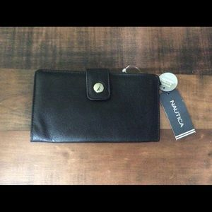 Nautica clutch wallet with rfid protection